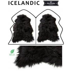 Icelandic lampaantaljamatto 2, musta pitkä karva
