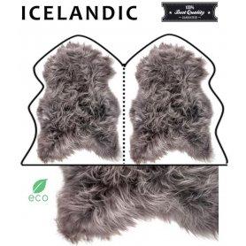 Icelandic lampaantaljamatto 2, harmaa pitkä karva
