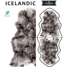 Musta Valkoinen lampaantalja, Icelandic x2, erikoispitkä, pitkä karva