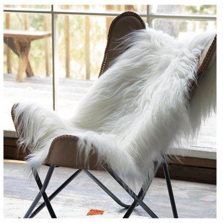 Valkoinen pitkä Lampaantalja Icelandic 110 - 120 cm