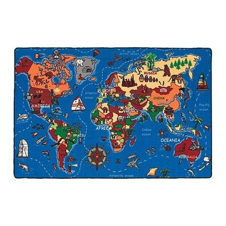 World Map matot, opettavaiset lasten matot