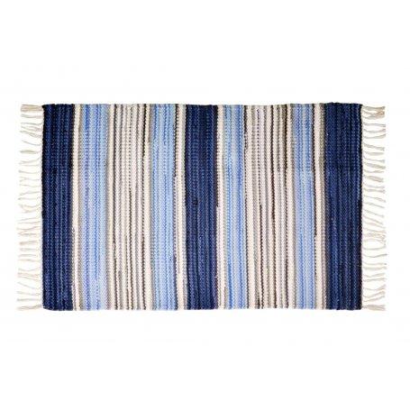 Björkö sininen räsymatto koossa 60x120 cm OUTLET poisto, tarjoushintaan ja kotiin tuotuna. Vain 1 kpl, tilaa heti.