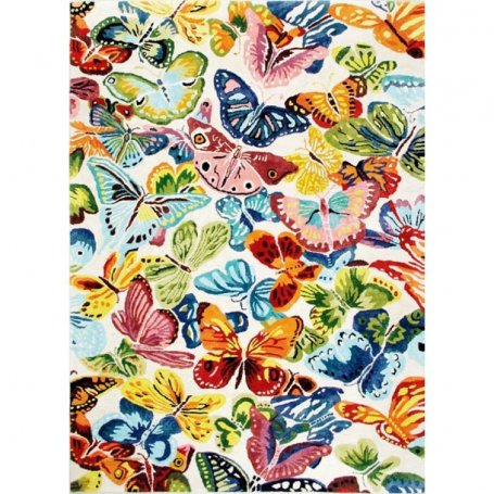Butterflies matot, käsin tuftattu