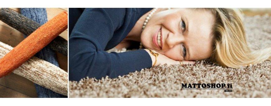 Mattoja allergiakotiin. Materiaalit ja varsinkin tekstiilit tulee valita huolella, etteivät ne aiheuta allergisia reaktioita.